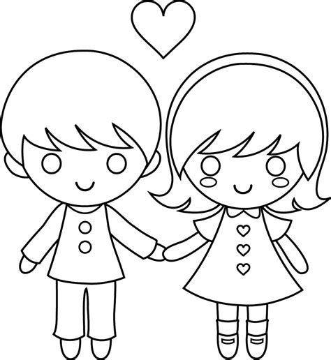 coloring page of a little boy and girl little boy and girl coloring pages coloring home