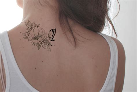 small black and white butterfly tattoos floral butterfly black and white