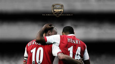 Arsenal Legends arsenal legends dennis bergk and thierry henry by