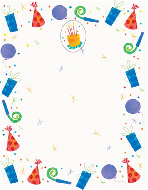 birthday accents printable birthday party invitations 8