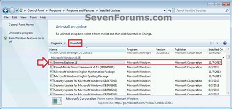 how to uninstall ie11 on windows 7 that restores previous internet explorer 11 uninstall in windows 7 windows 7