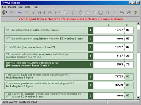 Vat Return Form Template Durell Online System Manual