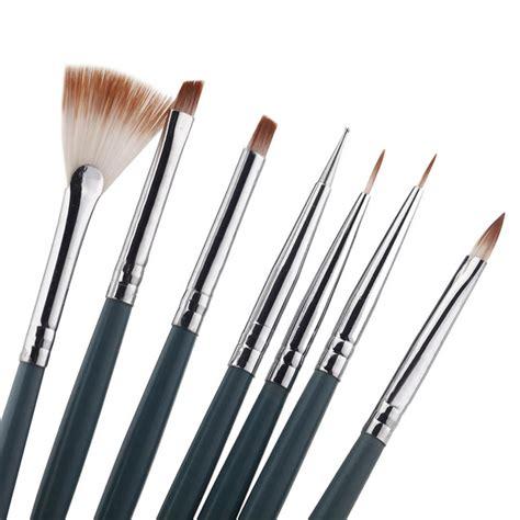 7pcs set diy professional nail brush design painting tool pen brush set gel uv nail