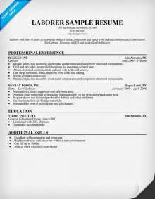 Sle General Laborer Resume by Resume Exles Laborer Resume Template