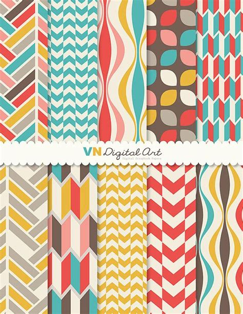 geometric pattern paper digital paper instant download geometric digital paper