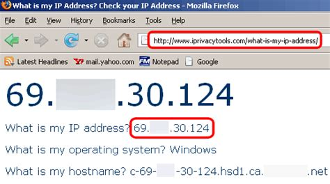 what is my up change ip address in windows 7 and vista