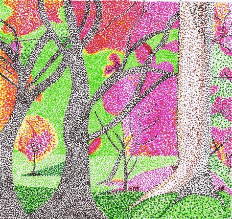 imagenes abstractas con puntos dibujo 6 plastica