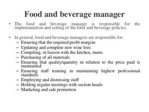 Food And Beverage Director Description by Hospitality Food Beverage Service