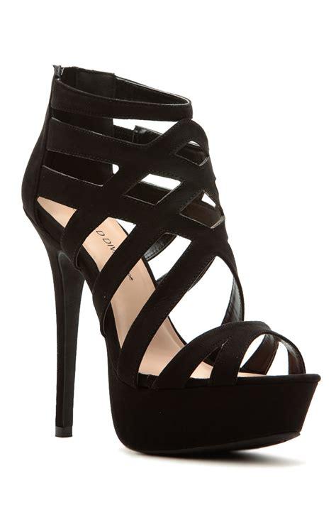 Heels Black by Black Faux Suede Cross Platform Heels Cicihot Heel