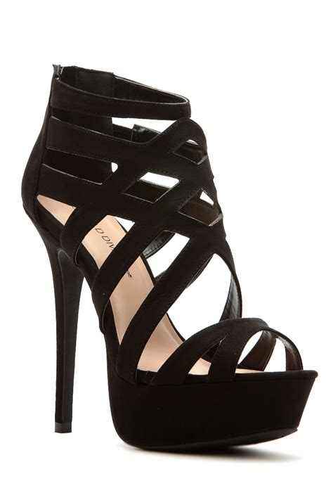 black faux suede cross platform heels cicihot heel
