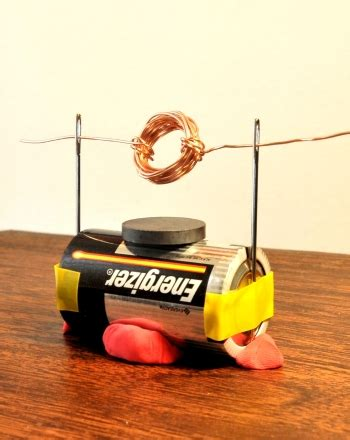 Electric Motor Experiment by How To Make A Simple Electric Motor Engineers Science