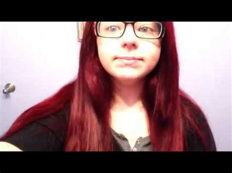 dying crimson obssession over black hair crimson obsession splat hair dye review youtube