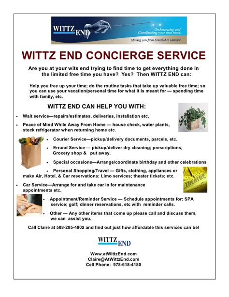 Concierge Service Flyer Personal Concierge Website Templates