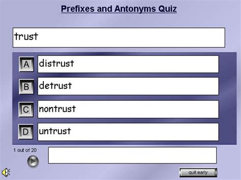 Antonyms And Prefix Quiz English Guide Org