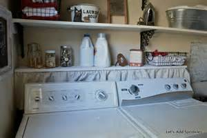 let s add sprinkles shelf above the washer and dryer