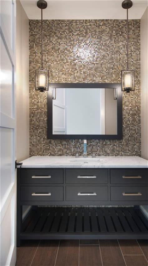 tile the entire wall the vanity bathroom