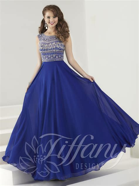 design formal dress tiffany designs 16184 a line evening gown french novelty