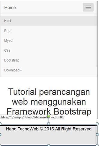 membuat menu dropdown bootstrap tutorial bootstrap menu dropdown dan footer menggunakan