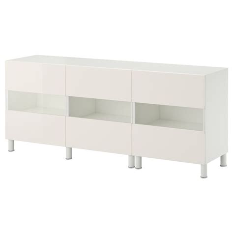 besta high gloss best 197 storage combination w glass doors white tofta high
