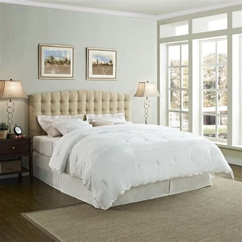 king panel headboard king tufted panel headboard in beige da4015hk bg