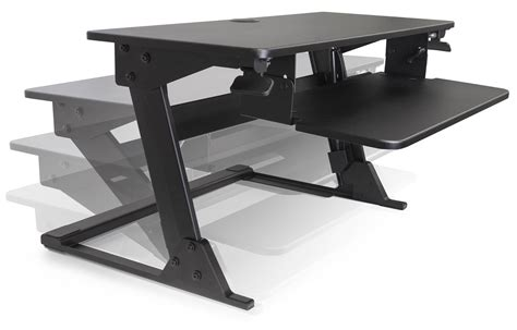 Sit Stand Desk Top Workstation Volante Desktop Sit Stand Workstation By Kv Waterloo Ergocanada Detailed Specification Page