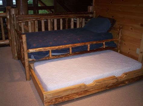 Log Bunk Beds With Trundle 17 Best Images About Log On Trundle Daybed Furniture And Cabin Furniture