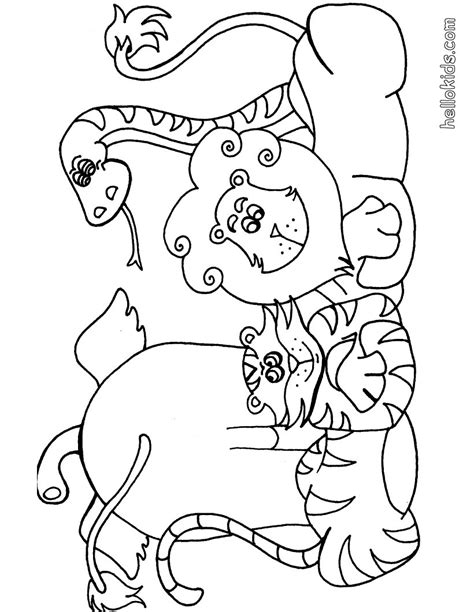 Coloring Pages Wildlife Animals | wild animal coloring pages hellokids com