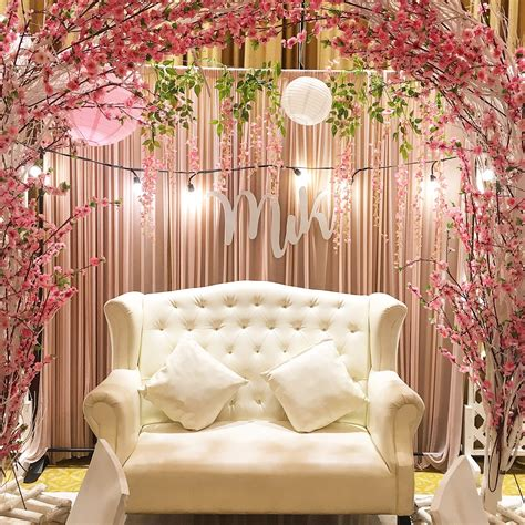 backdrop design for debut philippines mik s cherry blossom themed debut twinsome events