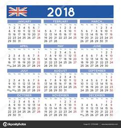 Calendario 2018 Uk 2018 Squared Calendar Uk Week Starts On Monday