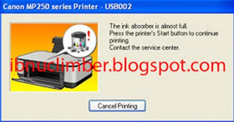 reset tinta printer canon mp258 cara reset the ink absorber is full canon mp258 deuniv