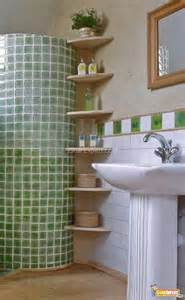 creative storage idea for small bathroom organization