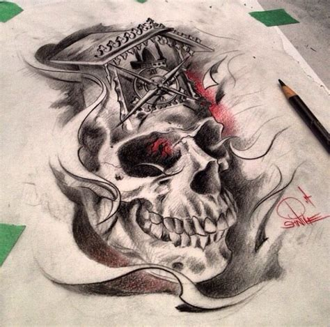 skull flash art flash art pinterest flash art