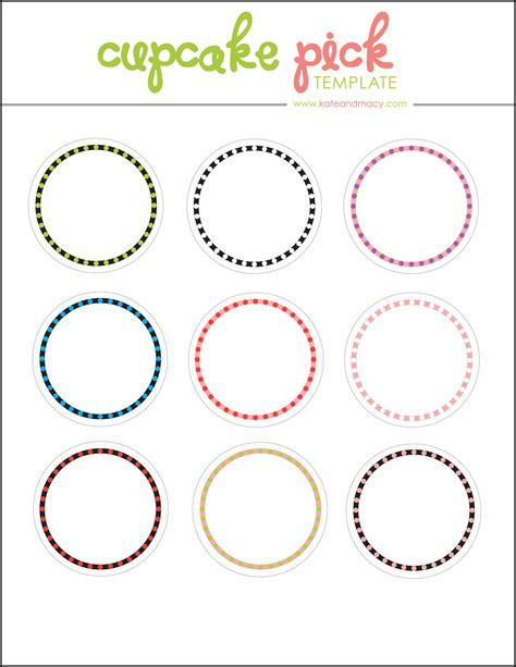 cupcake template to print kate free digital cupcake topper template
