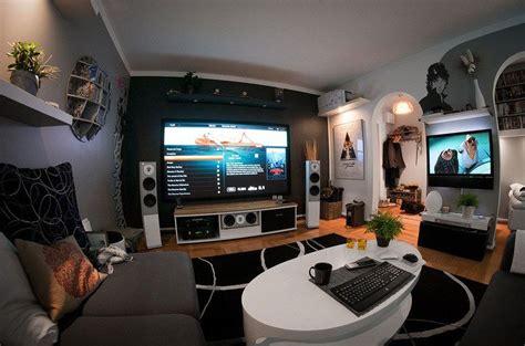living room  futuristic home theater setup