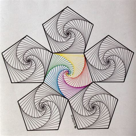 spirograph quilt pattern hexagon dr stringlove pinterest string art