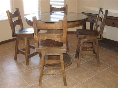 Rustic Dining Room Table Sets by Furniture Rustic Round Table Dining Room Furniture Sets