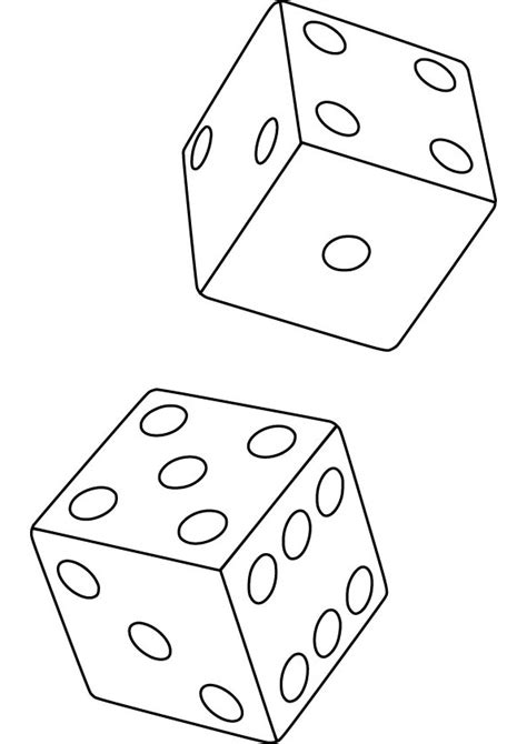 free coloring pages of dice