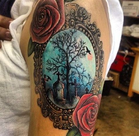 rose bush tattoo 1000 ideas about graveyard on