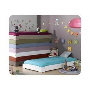 lit enfant empilable 90x190 cm avec sommier ma chambre d