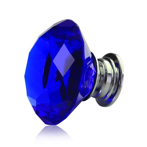 Crystal glass door knobs drawer cabinet furniture blue color us ebay