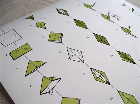 Fold Paper Cranes - how to fold a paper crane on behance