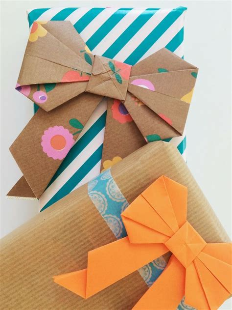 Origami Present Wrapping - diy origami bows crafts