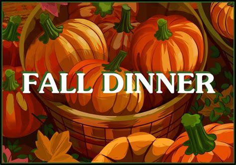 fall dinner abc parish our week november 6th to november 12th