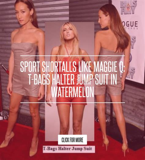 Are You Jumping Queues For A Jump Suit Play Suit by Sport Shortalls Like Maggie Q T Bags Halter Jump Suit In