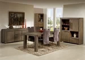 salle 224 manger contemporaine en bois massif coloris gris