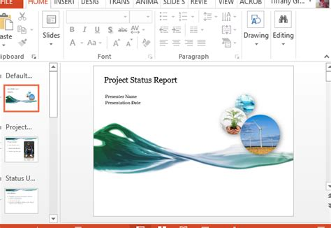 powerpoint report template powerpoint report template project progress report