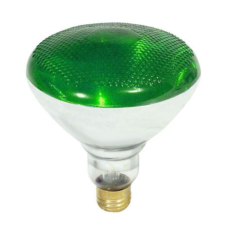 feit electric 100 watt incandescent par38 green light bulb