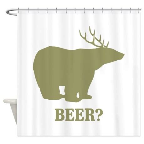 beer shower curtain beer deer bear shower curtain by flippin sweet