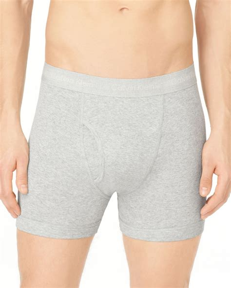 knit boxer briefs lyst calvin klein knit boxer briefs 3 pack in gray for