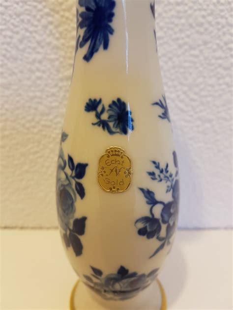 Altes Porzellan Bavaria by Alte Vase Porzellan Bavaria Waldershof Echt Cobalt 22